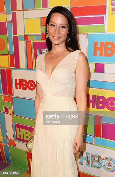 Actress Lucy Liu attends HBO's Official 2014 Emmy After Party at The Plaza at the Pacific Design Center on August 25 2014 in Los Angeles California