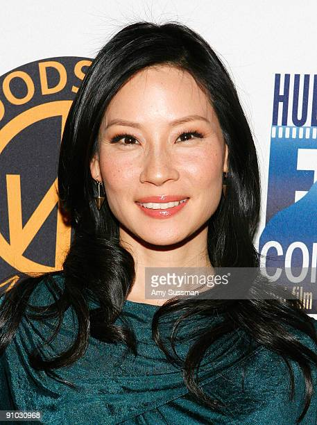 Actress Lucy Liu attends the 10th Anniversary Woodstock Film Festival launch party at Libation on September 22 2009 in New York City