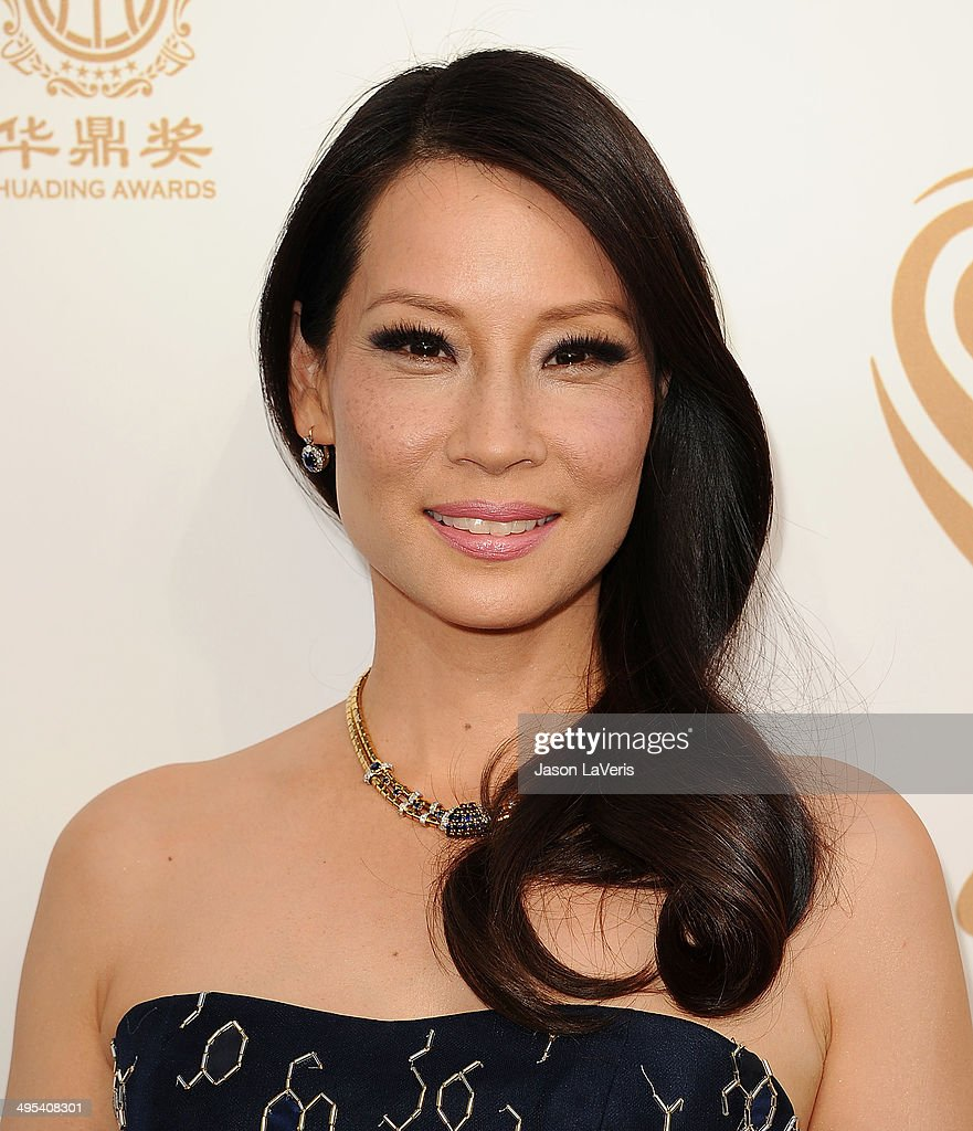 Actress Lucy Liu Attends The 2014 Huading Film Awards At The News