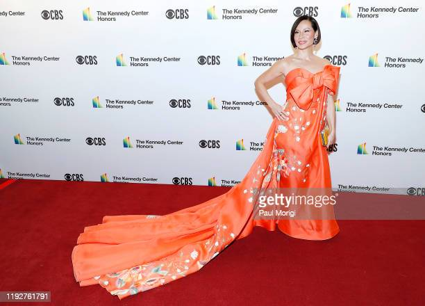 Actress Lucy Liu attends the 42nd Annual Kennedy Center Honors Kennedy Center on December 08 2019 in Washington DC