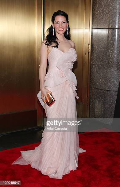 Actress Lucy Liu attends the 64th Annual Tony Awards at Radio City Music Hall on June 13, 2010 in New York City.
