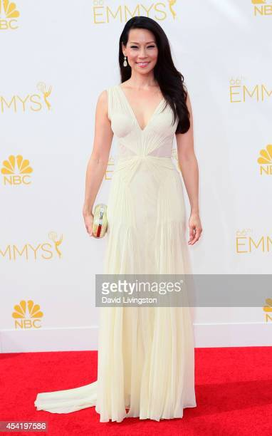 Actress Lucy Liu attends the 66th Annual Primetime Emmy Awards at the Nokia Theatre LA Live on August 25 2014 in Los Angeles California