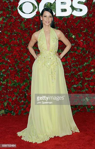 Actress Lucy Liu attends the 70th Annual Tony Awards at Beacon Theatre on June 12 2016 in New York City