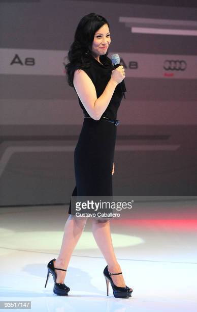 Actress Lucy Liu attends 'The Art of Progress' world premiere of the new Audi A8 at the Audi Pavilion on November 30 2009 in Miami Florida