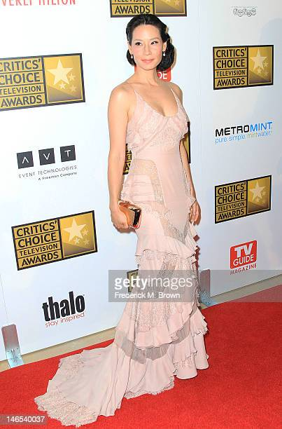 Actress Lucy Liu attends the Broadcast Television Journalists Association Second Annual Critics' Choice Awards at The Beverly Hilton Hotel on June...