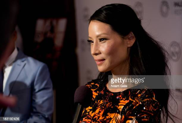 Actress Lucy Liu attends the 'Elementary' panel during 2013 PaleyFest Made In New York at The Paley Center for Media on October 5 2013 in New York...