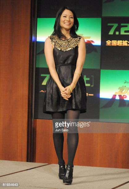Actress Lucy Liu attends the 'Kung Fu Panda' Press Conference at Park Hyatt Tokyo on July 15 2008 in Tokyo Japan The film will open on July 26 in...