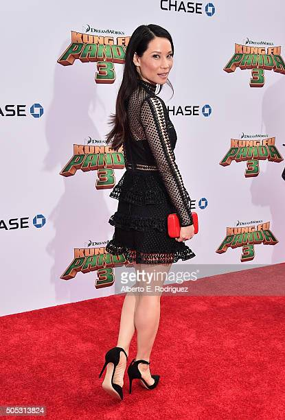 Actress Lucy Liu attends the premiere of DreamWorks Animation and Twentieth Century Fox's 'Kung Fu Panda 3' at TCL Chinese Theatre on January 16 2016...