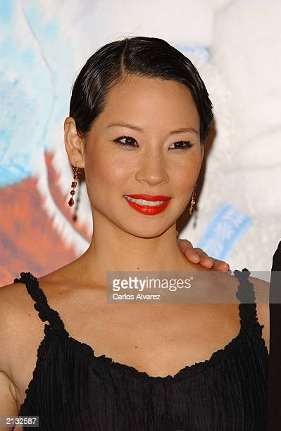 Actress Lucy Liu attends the Spanish premiere of the new Charlie Angels movie at Kinepolis cinema July 2 2003 in Madrid Spain