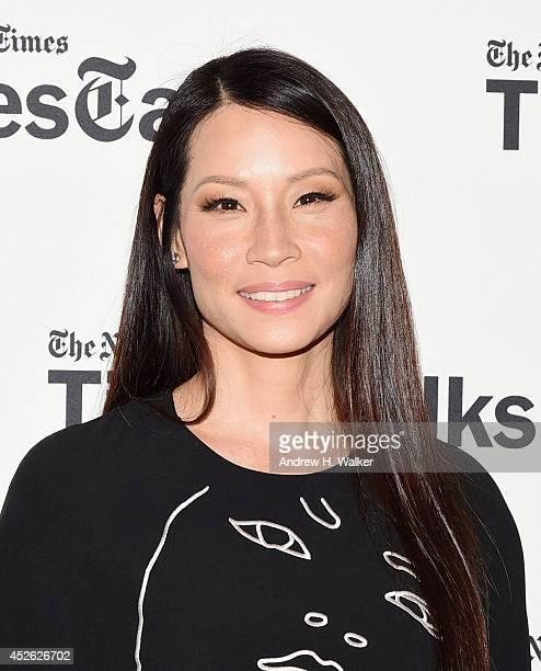 Actress Lucy Liu attends TimesTalks at Times Center on July 24 2014 in New York City