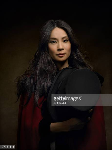 Actress Lucy Liu is photographed for InStyle Magazine on January 21 2006 at the Sundance Film Festival in Park City Utah