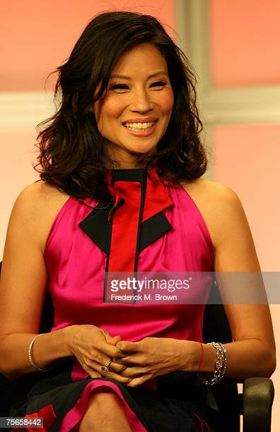 Actress Lucy Liu of 'Cashmere Mafia' speaks during the 2007 Summer Television Critics Association Press Tour for ABC held at the Beverly Hilton hotel...