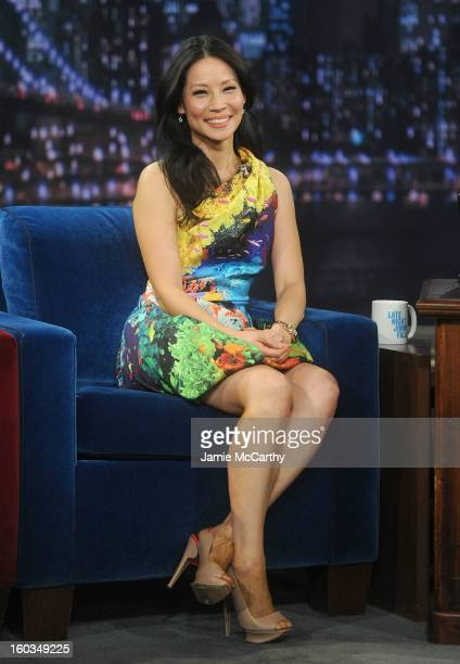 Actress Lucy Liu visits Late Night With Jimmy Fallon at Rockefeller Center on January 29 2013 in New York City