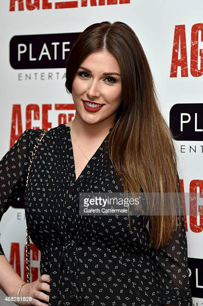 Actress Lucy Pinder attends a private screening of Age Of Kill at Ham Yard Hotel on April 1 2015 in London England