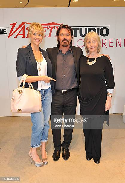 Actress Lucy Punch actor Josh Brolin and actress Gemma Jones attend Day 2 at the Variety Studio at Holt Renfrew during the 35th Toronto International...