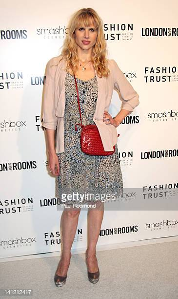 Actress Lucy Punch arrives at British Fashion Council's International Showcasing Initiative London Show Rooms LA Cocktail Party at Smashbox Studios...