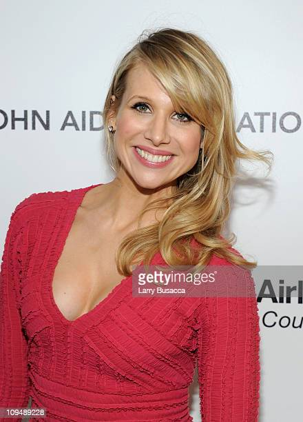 Actress Lucy Punch arrives at the 19th Annual Elton John AIDS Foundation Academy Awards Viewing Party at the Pacific Design Center on February 27...