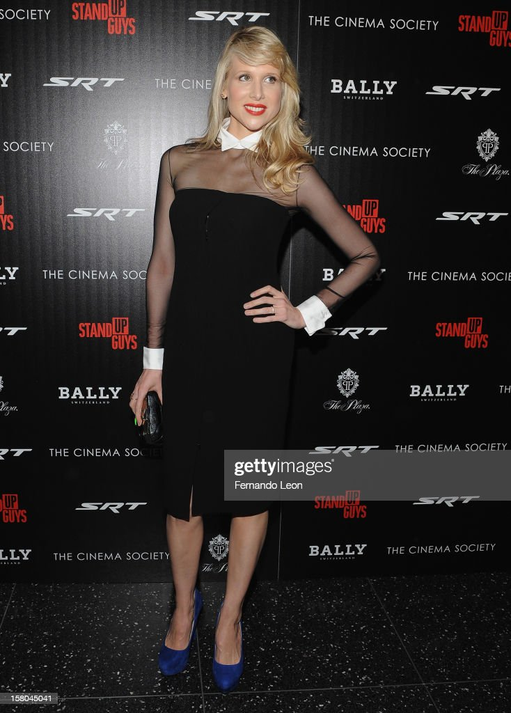 Actress Lucy Punch attends the premiere of 'Stand Up Guys' hosted by The Cinema Society with Chrysler and Bally at MOMA on December 9, 2012 in New York City.