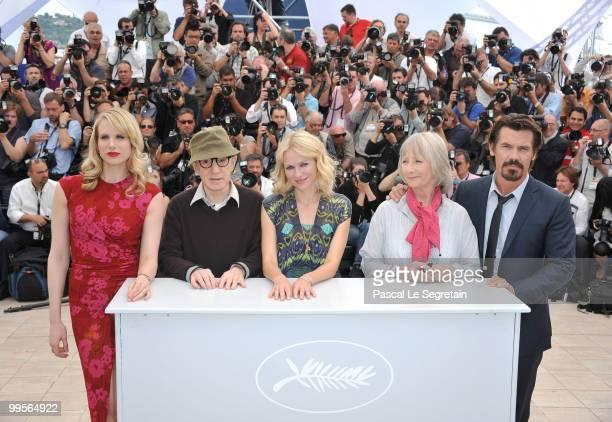 Actress Lucy Punch director Woody Allen actress Naomi Watts actress Gemma Jones and actor Josh Brolin attend the You Will Meet A Tall Dark Stranger...