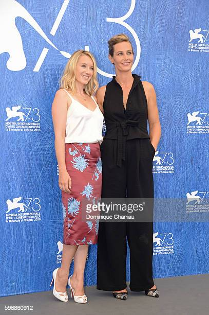 Actress Ludivine Sagnier and actress Cécile de France attend the photocall of 'The Young Pope' during the 73rd Venice Film Festival at on September...