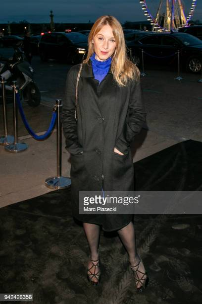 Actress Ludivine Sagnier arrives to attend the 'Madame Figaro' dinner at Automobile Club de France on April 5 2018 in Paris France