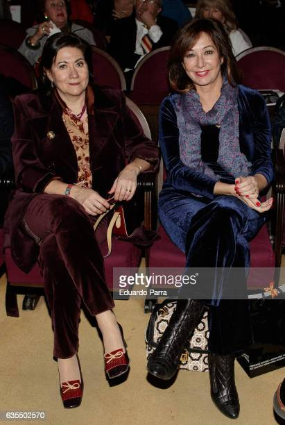 Actress Luisa Martin and Ana Rosa Quintana attend the 'La Princesa Paca' photocall at Ateneo on February 15 2017 in Madrid Spain