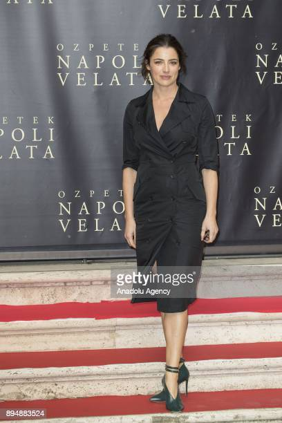 Actress Luisa Ranieri attends the photocall of the movie 'Napoli Velata' at Palazzo Massimo alle Terme in Rome Italy on December 18 2017