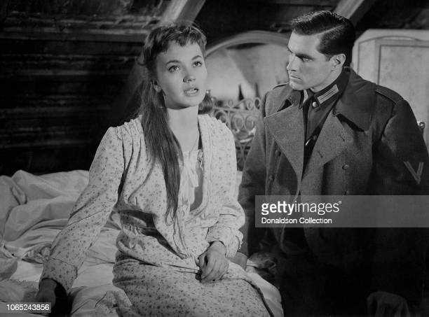 Actress Luise Rainer and John Gavin in a scene from the movie A Time to Love and a Time to Die