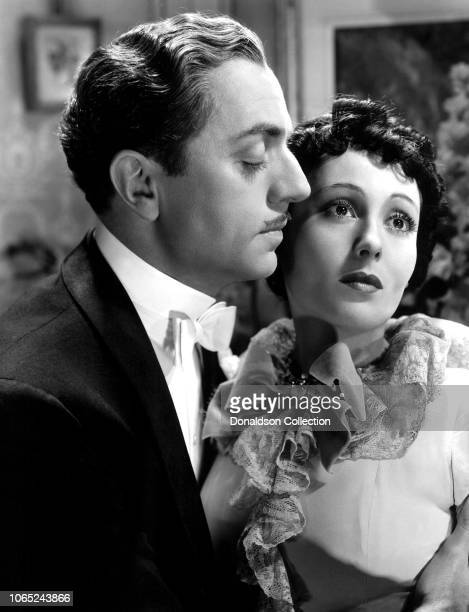 Actress Luise Rainer and William Powell in a scene from the movie The Great Ziegfeld
