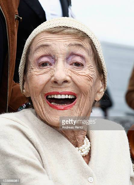 Actress Luise Rainer attends a ceremony honoring her with a Star on the Berlin Walk of Fame on September 5 2011 in Berlin Germany