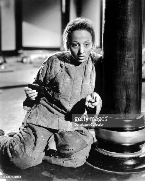Actress Luise Rainer in a scene from the movie The Good Earth