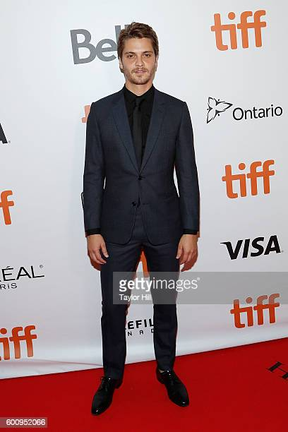 Actress Luke Grimes attends the world premiere of The Magnificent Seven during the 2016 Toronto International Film Festival at Roy Thomson Hall on...