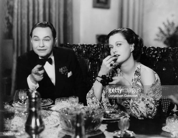 Actress Luli Deste and Edward G Robinson in a scene from the movie Thunder in the City