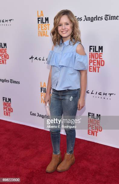 Actress Lulu Wilson attends the premiere of Warner Bros Pictures' Annabelle Creation during the 2017 Los Angeles Film Festival at The Theatre at Ace...