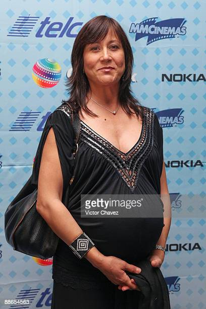 Actress Lumi Cavazos attends the press conference for the Ideas en Corto Telcel Launch at Cinemex Antara Polanco on June 23 2009 in Mexico City Mexico