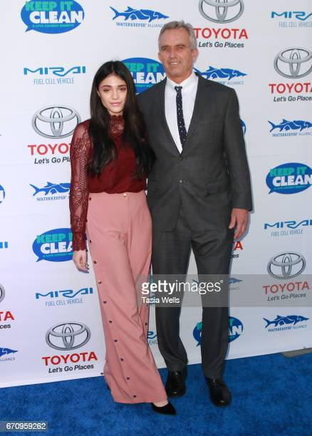 Actress Luna Blaise and radio host Robert F Kennedy Jr attend Keep it Clean Live Comedy Benefit for Waterkeeper Alliance at Avalon Hollywood on April...