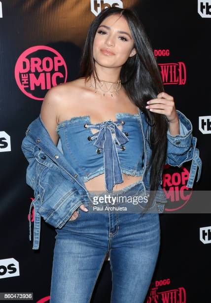 Actress Luna Blaise attends the premiere for TBS's Drop The Mic and The Joker's Wild at The Highlight Room on October 11 2017 in Los Angeles...