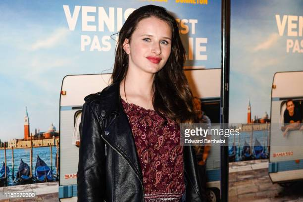 Actress Luna Lou is seen during the Venise N'Est Pas En Italie Premiere at UGC Cine Cite Bercy on May 28 2019 in Paris France