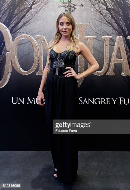 Actress Luna Zacharias attends the 'El musical de Don Juan' photocall at La Luz theatre on October 3 2016 in Madrid Spain