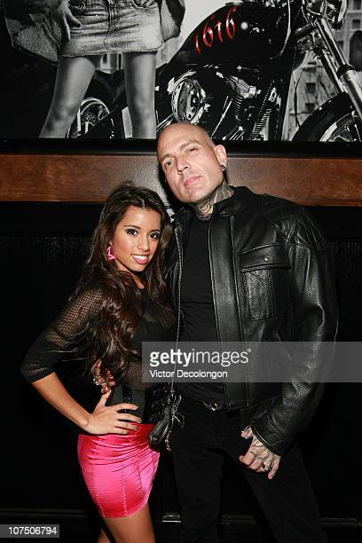 Actress Lupe Fuentes and musician Evan Seinfeld attend Etty Farrell's Birthday Celebration at 1616 Club on December 9 2010 in Los Angeles California