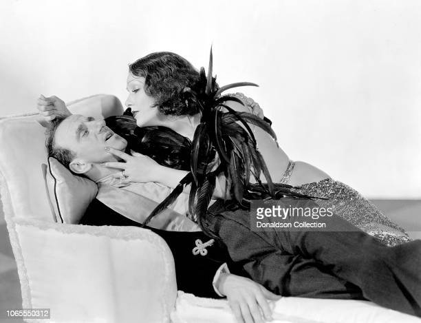 Actress Lupe Velez and Jimmy Durante in a scene from the movie Hollywood Party