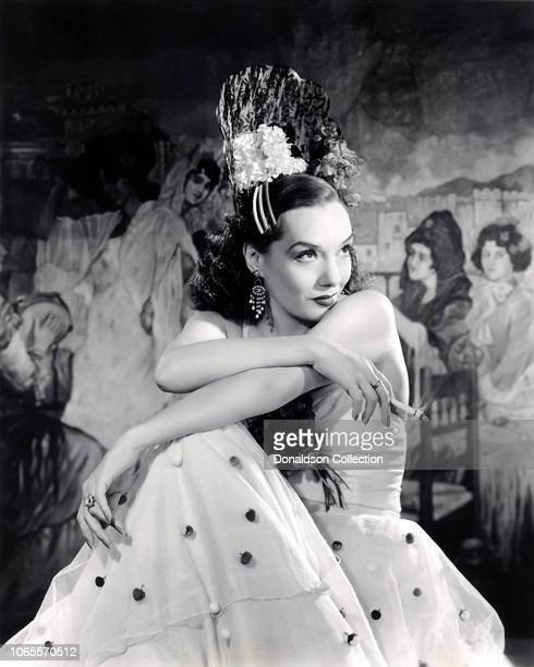 Actress Lupe Velez in a scene from the movie Mexican Spitfire