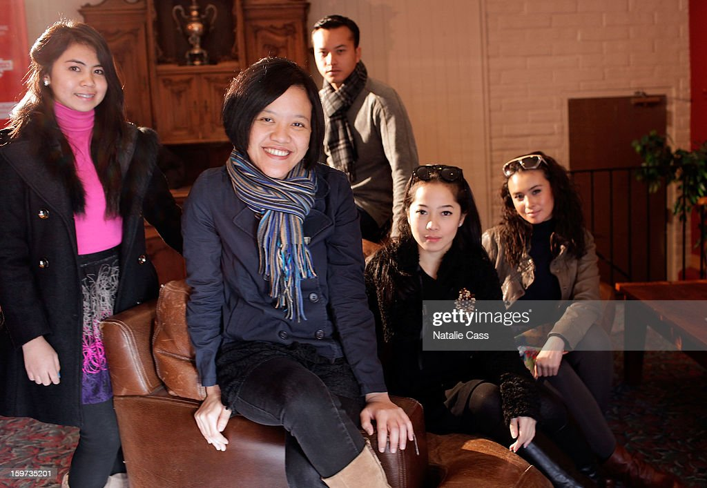 Actress Lupita Jennifer, writer/director Mouly Surya, and actors Nicholas Saputra, Karina Salim and Ayushita attend the 'What They Talk About When They Talk About Love' premiere at Prospector Square during the 2013 Sundance Film Festival on January 19, 2013 in Park City, Utah.