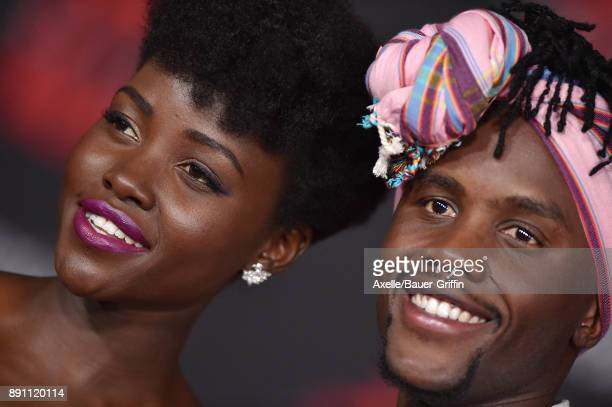 Actress Lupita Nyong'o and brother Peter Nyong'o attend the Los Angeles premiere of 'Star Wars The Last Jedi' at The Shrine Auditorium on December 9...
