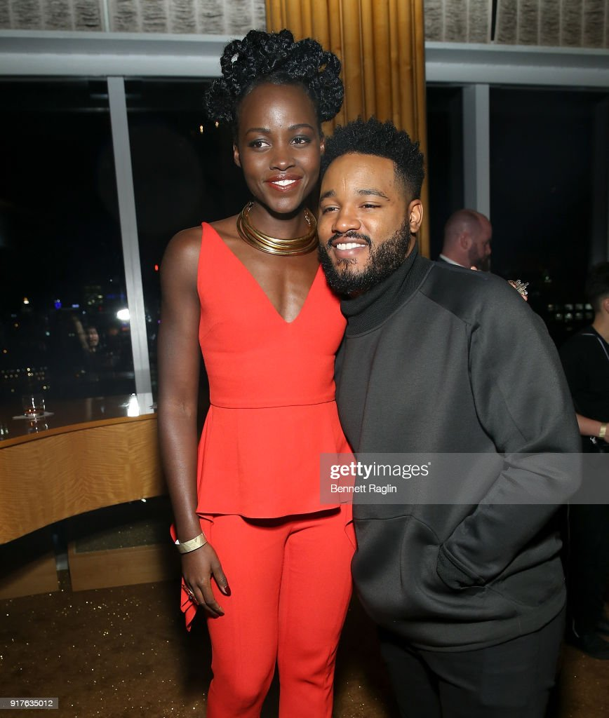 Actress Lupita Nyong'o and director Ryan Coogler attend the Danai x One x Love Our Girls celebration at The Top of The Standard on February 12, 2018 in New York City.