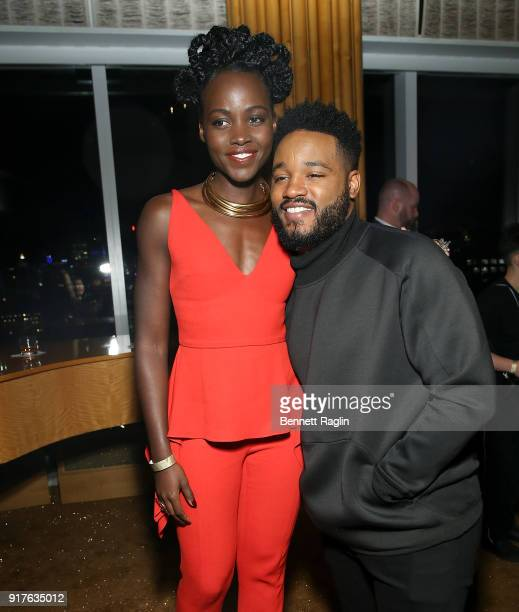 Actress Lupita Nyong'o and director Ryan Coogler attend the Danai x One x Love Our Girls celebration at The Top of The Standard on February 12 2018...