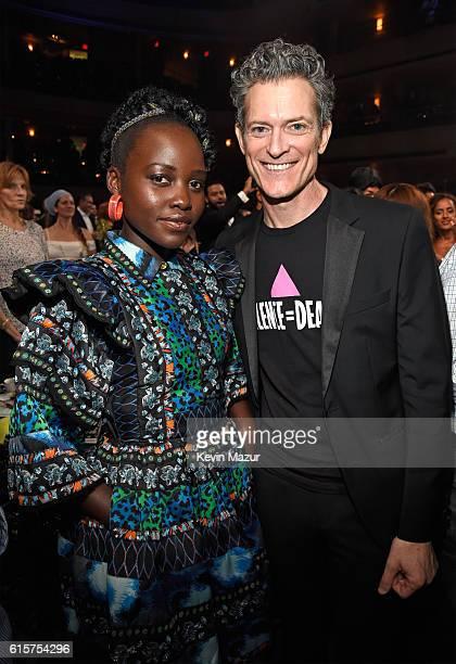 Actress Lupita Nyong'o and Keep A Child Alive CEO Peter Twyman attend Keep A Child Alive's Black Ball 2016 at Hammerstein Ballroom on October 19 2016...