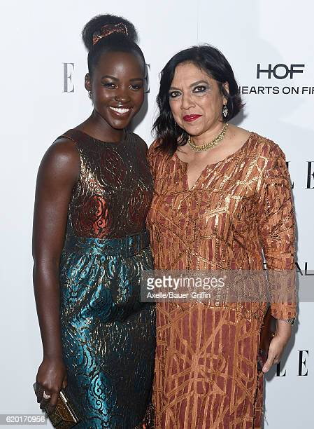 Actress Lupita Nyong'o and Mira Nair arrive at the 23rd Annual ELLE Women In Hollywood Awards at Four Seasons Hotel Los Angeles at Beverly Hills on...
