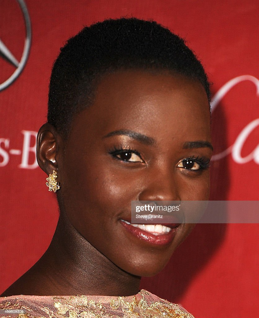 Actress Lupita Nyong'o arrives at the 25th annual Palm Springs International Film Festival awards gala at Palm Springs Convention Center on January 4, 2014 in Palm Springs, California.