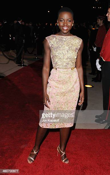 Actress Lupita Nyong'o arrives at the 25th Annual Palm Springs International Film Festival Awards Gala at Palm Springs Convention Center on January...